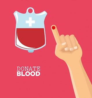 Donate il test di caduta della mano di sangue