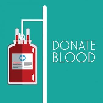 Dona un sacchetto di plastica per il sangue sano