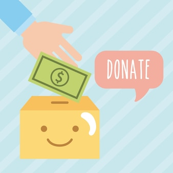 Dona denaro ai bambini