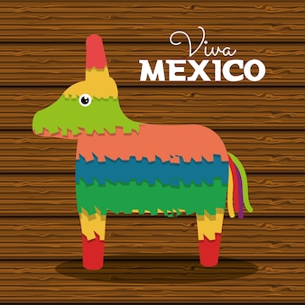 Disegno di carnevale messicano di asino pinata