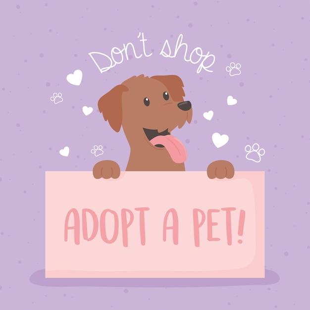 Non fare acquisti, adotta un animale domestico