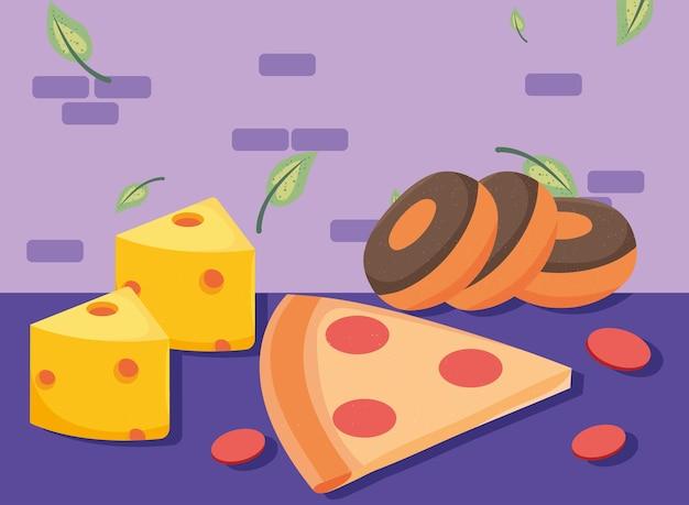 Ciambelle e pizza