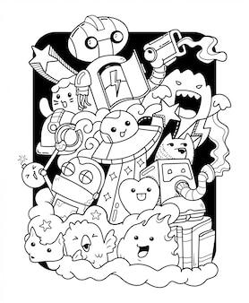 Illustrazione di arte di doodle