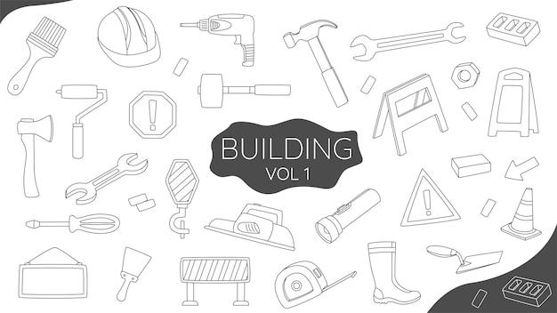 Insieme della costruzione di doodle