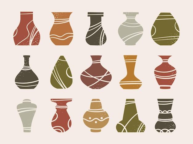 Vasi in ceramica doodle ceramiche contemporanee in ceramica
