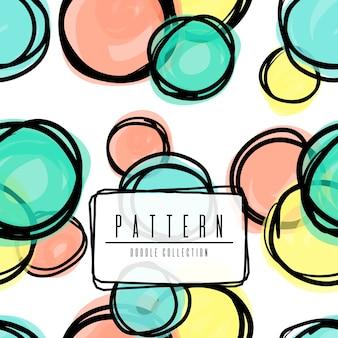 Cerchio di doodle in diversi colori posto a caso