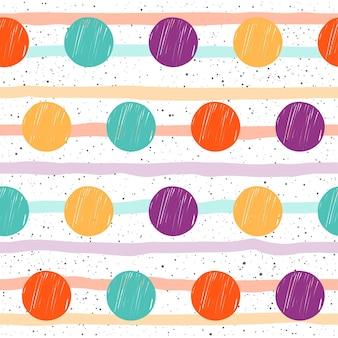 Fondo senza cuciture del cerchio di doodle. cerchio di schizzo infantile isolato su copertina bianca. motivo per biglietti, t-shirt, design di borse, album, album di ritagli, carta da regalo per le vacanze, tessuto, indumento, carta da parati.