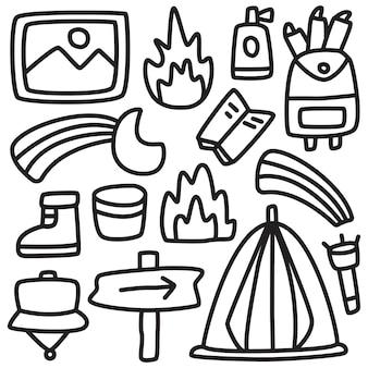 Doodle colorazione camper disegnato a mano