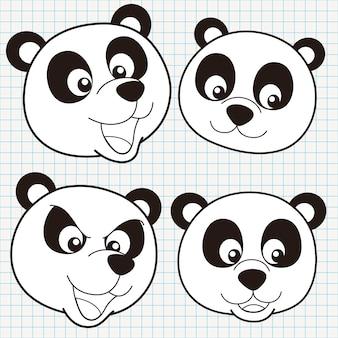 Doodle carino panda face collection