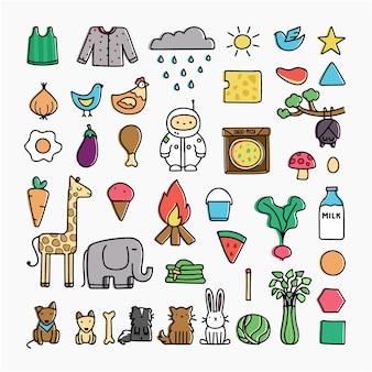 Scarabocchiare, disegno, vettore, illustrazione, cartone animato