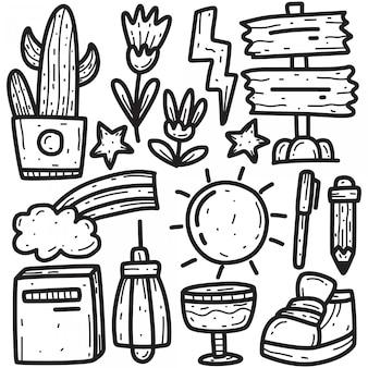 Illustrazione di disegno a mano di doodle
