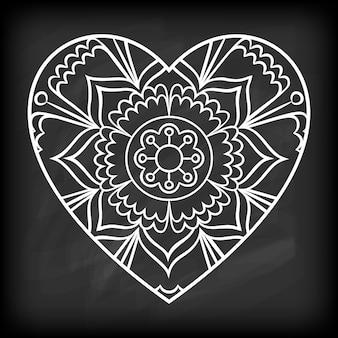Scarabocchiare, cuore, mandala