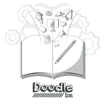 Doodle icone cartoni animati