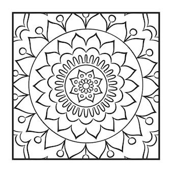Scarabocchiare, mandala, coloritura, pagina