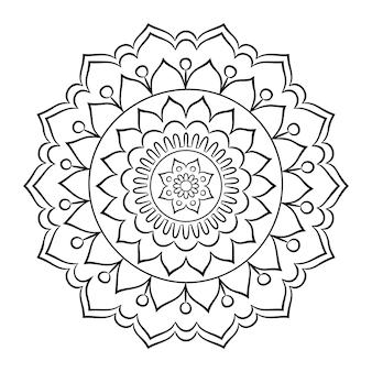 Doodle mandala da colorare
