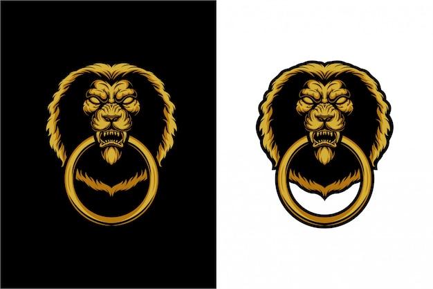 La maniglia della porta - la testa di un leone
