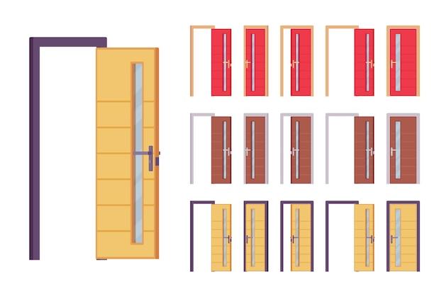 Set moderno di porte