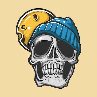 Berretto da portare di vettore del cranio di droga