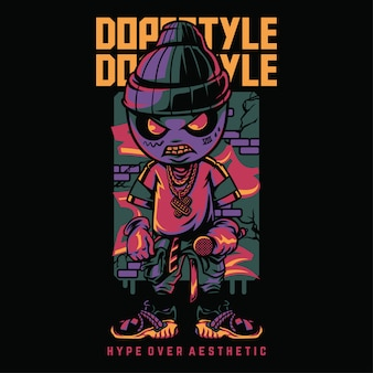 Dope style hiphop style illustrazione