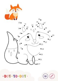 Unisci i puntini ai numeri e al quiz a colori che imparano il gioco dei bambini con semplici illustrazioni di contorno contour