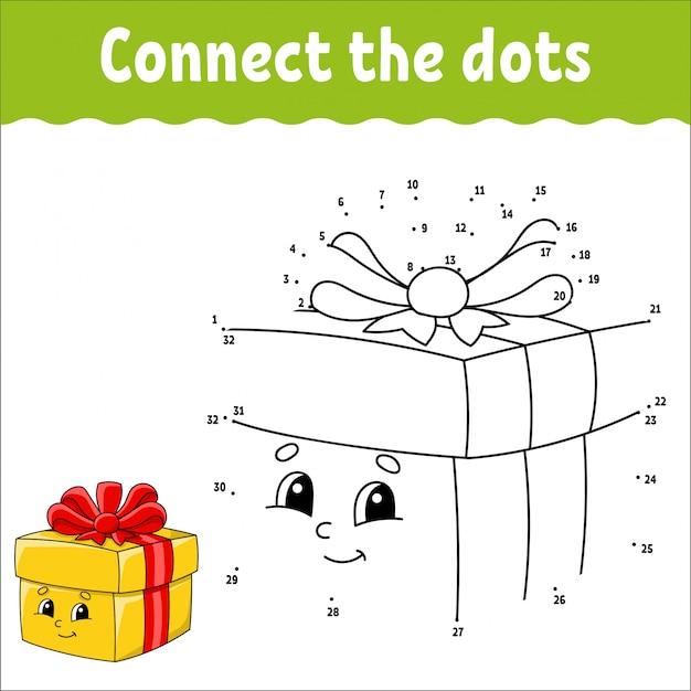 Punto a punto. disegna una linea. pratica della scrittura a mano. imparare i numeri per i bambini.