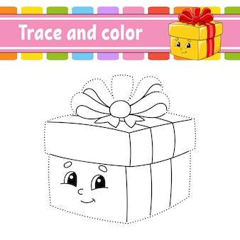 Gioco da punto a punto disegna una linea libro da colorare tema natalizio