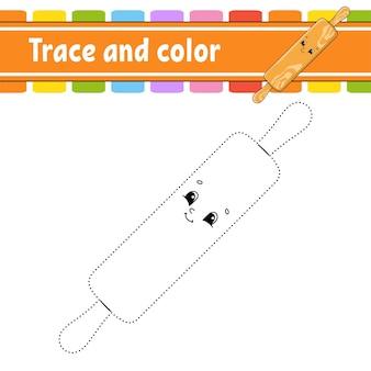 Gioco da punto a punto. disegna una linea. per bambini. scheda attività. libro da colorare.