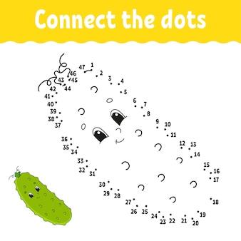 Gioco punto per punto. disegna una linea. per bambini.