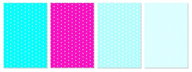 Modello di punti impostato. sfondo del bambino. colori blu, rosa. illustrazione vettoriale. motivo a pois.