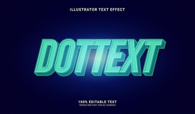 Effetto stile punto testo. effetto di testo modificabile