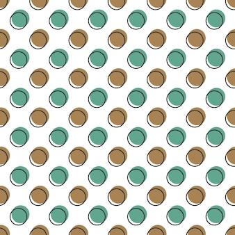 Motivo a punti, sfondo geometrico astratto in stile retrò anni '80 e '90. illustrazione geometrica colorata