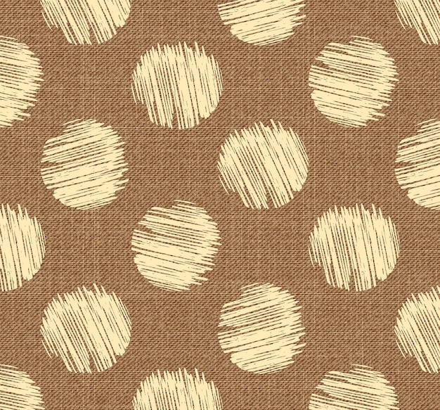 Motivo a punti sul tessuto, sfondo geometrico astratto. illustrazione di stile creativo e di lusso