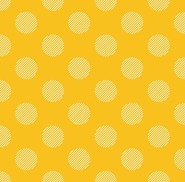 Motivo a pois con striscia interna, sfondo semplice geometrico. illustrazione di stile elegante e di lusso