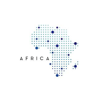 Ispirazione per il design del logo della mappa dell'africa punteggiata