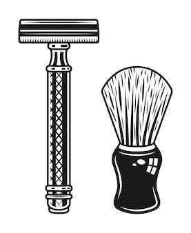 Oggetti per rasoio e pennello da barba a doppio taglio