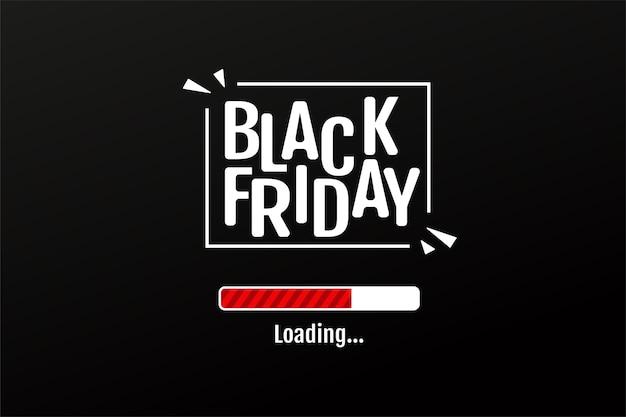 La barra di download conta i giorni del periodo di promozione dei saldi blackfriday.