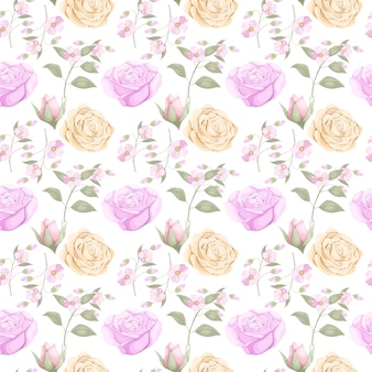 Scarica il design floreale senza cuciture per la moda