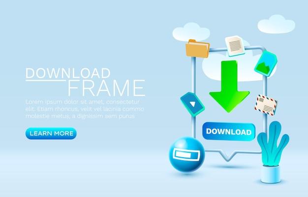 Scarica il vettore del display mobile della tecnologia dello schermo mobile dello smartphone del messaggio