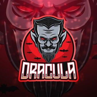 Dracula esport mascotte logo design