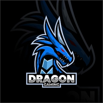 Drago animale mascotte logo esport logo team immagini stock