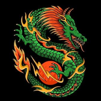 Illustrazione del disegno del drago