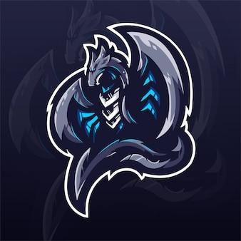 Modello di logo della squadra di dragon e-sports