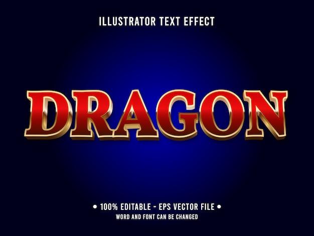 Effetto di testo modificabile del drago in stile classico da casinò