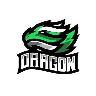 Logo di gioco dragon esport