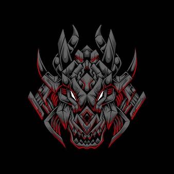 Logo della mascotte di dragon esport