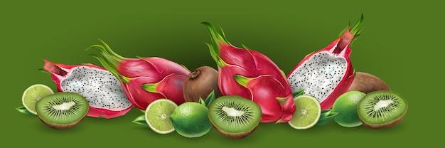 Drago di frutta e kiwi