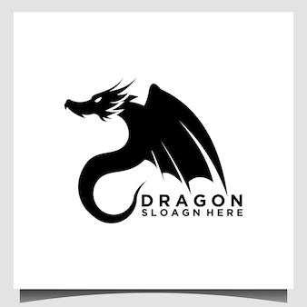 Vettore del modello di progettazione del logo del drago