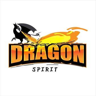 Disegno del logo del drago