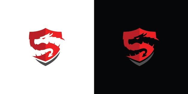 Modello di logo del drago vettore premium