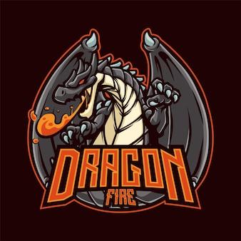 Dragon mascot per esport e sport